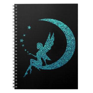 Cadernos Espiral Fada da lua do brilho