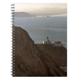 Cadernos Espiral Farol de Bonita do ponto em San Francisco CA