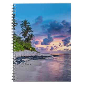 Cadernos Espiral Felicidade tropical bonita da praia