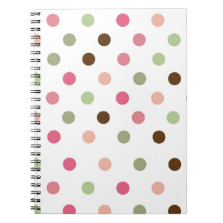 Cadernos Espiral Feminino, Pastel, cor-de-rosa, verde, Brown,