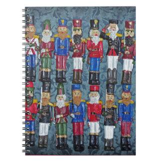 Cadernos Espiral Figuras do natal vintage, soldados idosos
