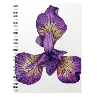 Cadernos Espiral Flor azul de Siberica da íris