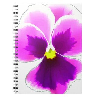 Cadernos Espiral Flor roxa 201711 do amor perfeito
