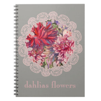 Cadernos Espiral flores das dálias