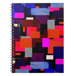 Cadernos Espiral Folha verde geométrica