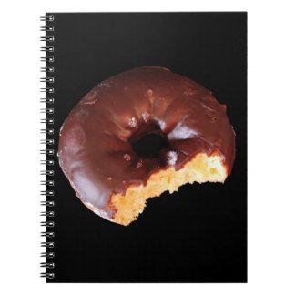 Cadernos Espiral Foto da rosquinha do bolo amarelo do fosco do