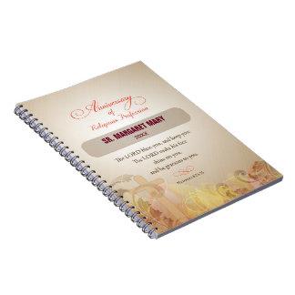 Cadernos Espiral Freira feita sob encomenda do nome & do ano, 60th