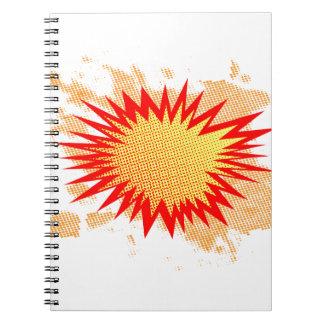 Cadernos Espiral Fundo de Splat