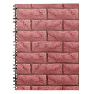 Cadernos Espiral Fundo sem emenda da textura da parede de tijolo