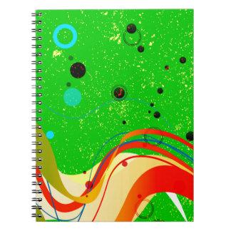 Cadernos Espiral Fundo verde do jazz