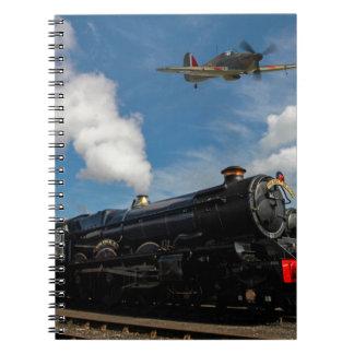 Cadernos Espiral Furacões e trem do vapor