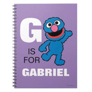 Cadernos Espiral G é para Grover que | adicionam seu nome