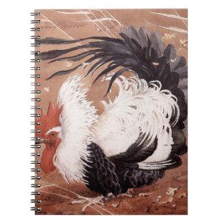 Cadernos Espiral Galo novo no vento