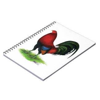 Cadernos Espiral Gamecock:  Escuro - vermelho