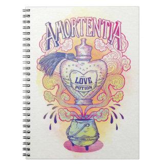 Cadernos Espiral Garrafa da poção de amor do período | Amortentia