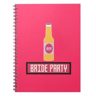 Cadernos Espiral Garrafa de cerveja Z6542 do partido da noiva