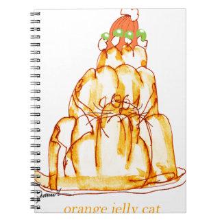 Cadernos Espiral gato alaranjado da geléia dos fernandes tony