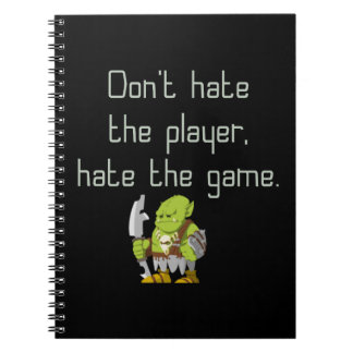Cadernos Espiral Geek do jogo: Não deie o jogador