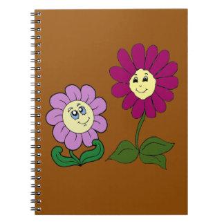 Cadernos Espiral Girassóis felizes