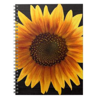 Cadernos Espiral Girassol rústico do outono
