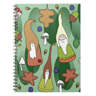 Cadernos Espiral Gnomos da floresta