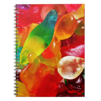 Cadernos Espiral goma da geléia
