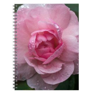 Cadernos Espiral Gotas cor-de-rosa