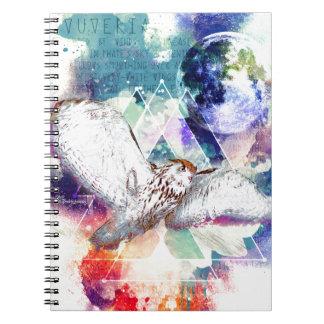 Cadernos Espiral Grande coruja branca do Phate-Vu Verian-The