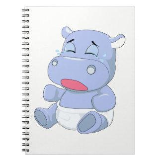 Cadernos Espiral Grito do hipopótamo do bebê