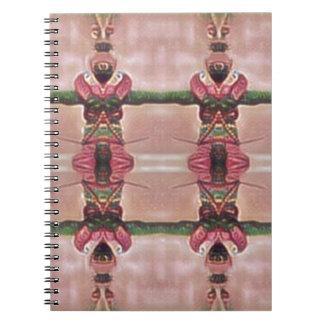 Cadernos Espiral Guarda psicadélico