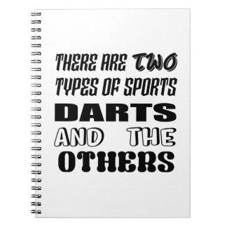 Cadernos Espiral Há dois tipos de dardos e de outro dos esportes