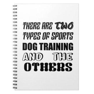 Cadernos Espiral Há dois tipos de treinamento do cão dos esportes e