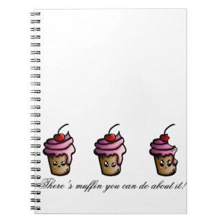 Cadernos Espiral Há muffin que você pode fazer sobre ele