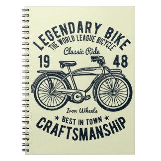 Cadernos Espiral Habilidade legendária da bicicleta da bicicleta