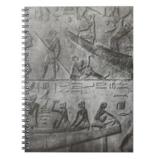 Cadernos Espiral Hieroglyphics egípcios