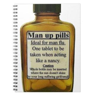 Cadernos Espiral Homem acima dos comprimidos