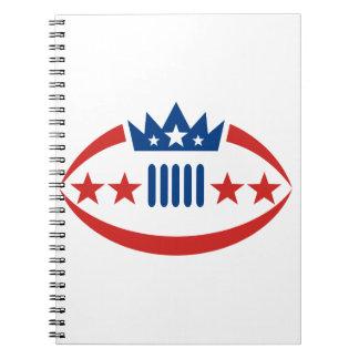 Cadernos Espiral Ícone da estrela da coroa da bola do futebol