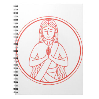 Cadernos Espiral Ícone de Namaste
