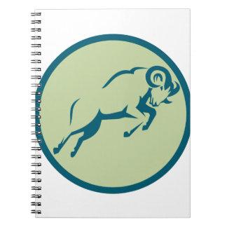 Cadernos Espiral Ícone de salto do círculo dos carneiros de