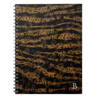 Cadernos Espiral Impressão Glam da selva do safari elegante chique