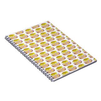 Cadernos Espiral Impressão personalizado da comida de pequeno