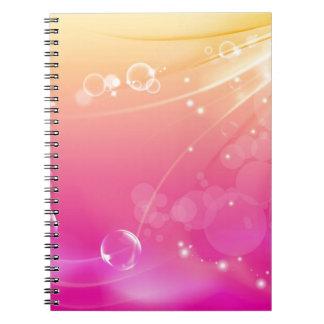 Cadernos Espiral Incandescência pura do fundo do abstrato do rosa