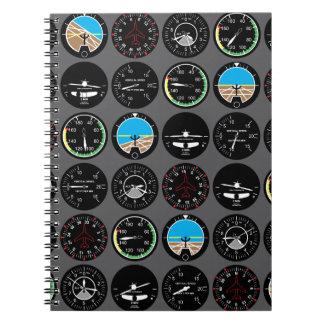 Cadernos Espiral Instrumentos do vôo