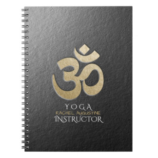 Cadernos Espiral Instrutor da meditação da IOGA do símbolo de OM do
