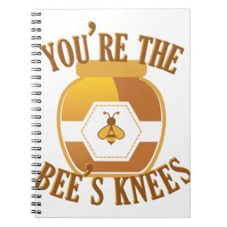 Cadernos Espiral Joelhos das abelhas