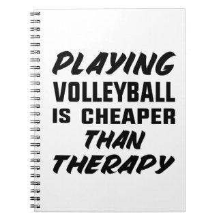 Cadernos Espiral Jogar o voleibol é mais barato do que a terapia
