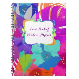 Cadernos Espiral Kai de PixDezines bali/livro de aspectos positivos