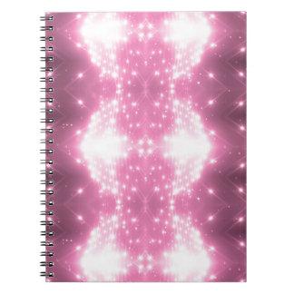 Cadernos Espiral Kaleidosope Sparkling cor-de-rosa