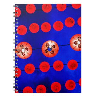 Cadernos Espiral Lanternas chinesas