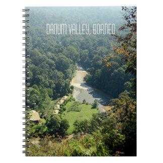 Cadernos Espiral Lembrança da opinião aérea da selva da floresta